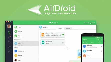 برنامج تصوير الشاشة فيديو للاندرويد AirDroid