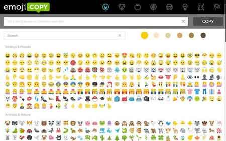 برنامج ايموجي Emojicopy