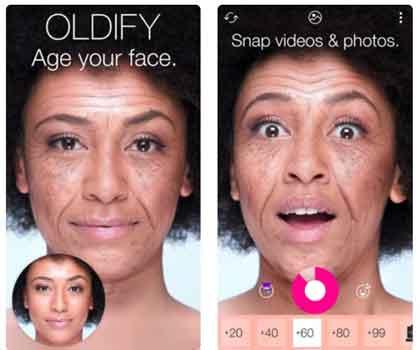 برنامج تكبير السن Oldify