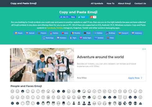 برنامج ايموجي Copy and Paste Emoji