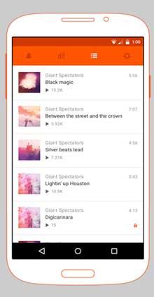 برنامج تحميل اغاني للاندرويد SoundCloud