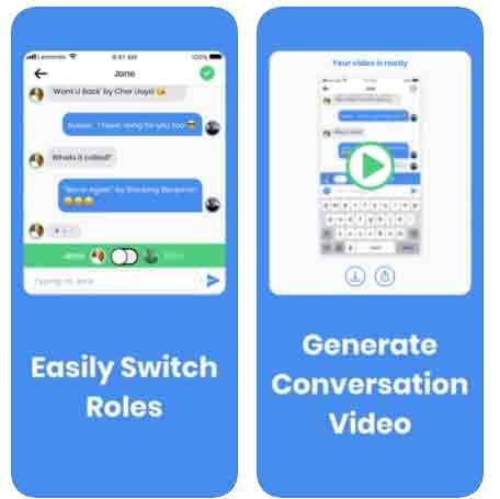 برنامج المحادثات الوهميه FakeChat Maker