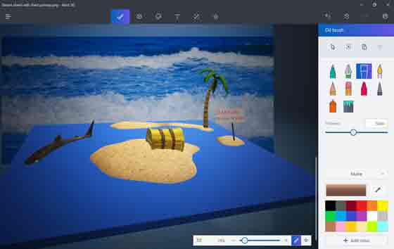 برنامج رسم Microsoft Paint 3D