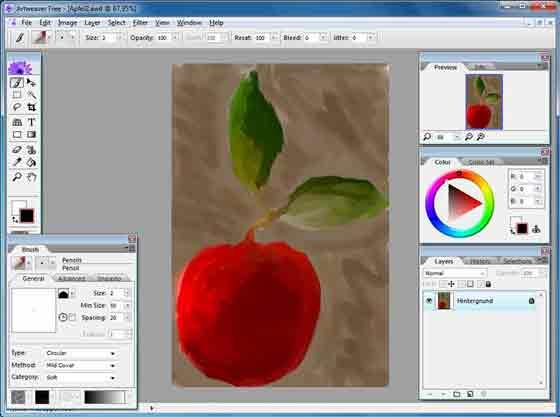 برنامج رسم Artweaver Free