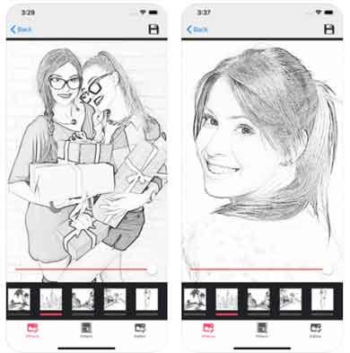 برنامج تحويل الصور الى رسم Pencil Photo Sketch Editor
