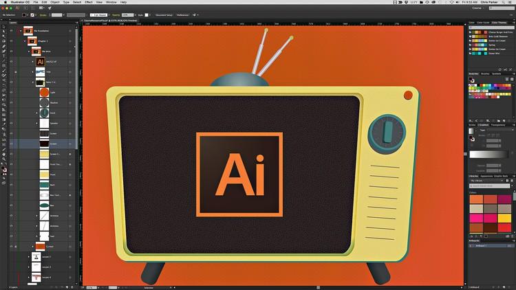 كورس تعلم برنامج Adobe Illustrator CC