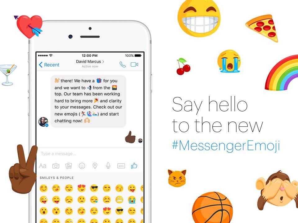 تطبيق فيس بوك ماسنجر يضيف أكثر من 1500 ايموشن ورموز تعبيرية في اخر تحديث