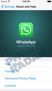 تفعيل مكالمات الفيديو لتطبيق واتساب لهواتف الايفون
