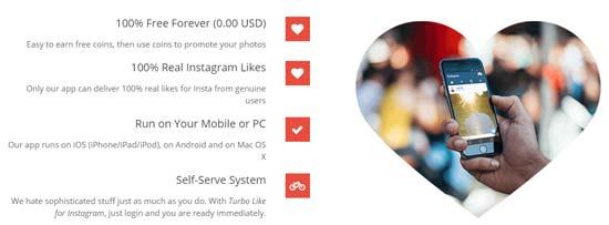 برنامج  Turbo Like for Instagram زيادة لايكات انستقرام مجانا