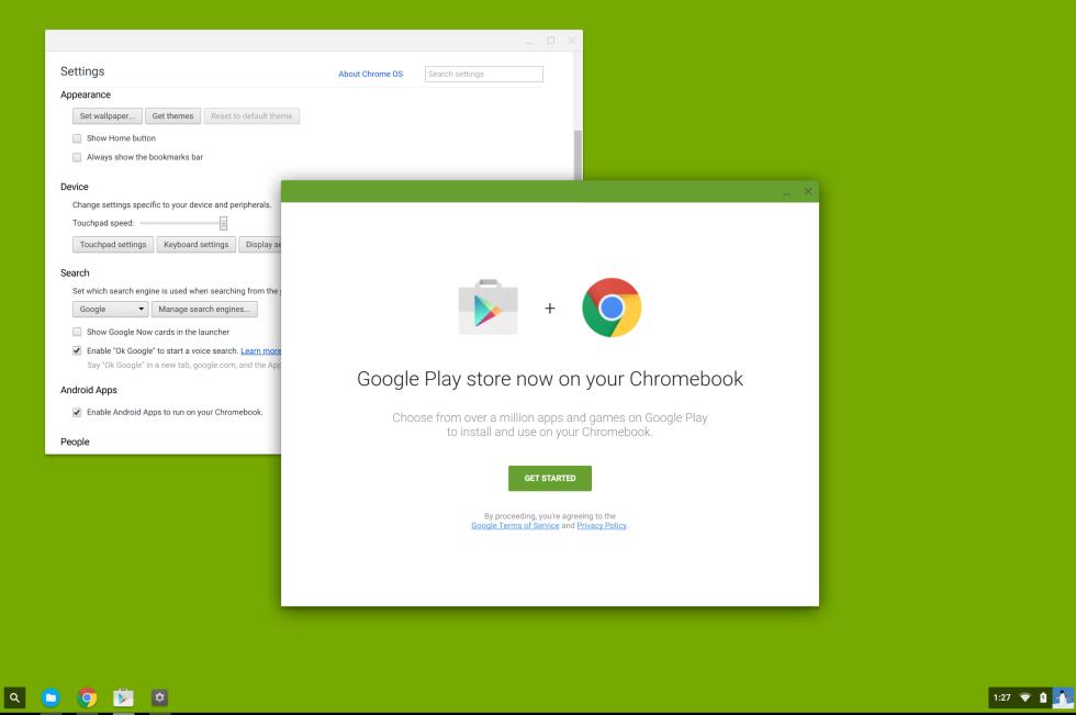 نظام التشغيل Chrome OS يدعم تطبيقات الاندرويد