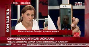 يظهر الرئيس التركي اردوغان عبر تطبيق فيس تايم على البث التلفزيوني المباشر اثناء محاولة الانقلاب