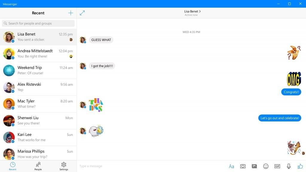 تطبيقات الفيسبوك لنظام التشغيل Windows 10