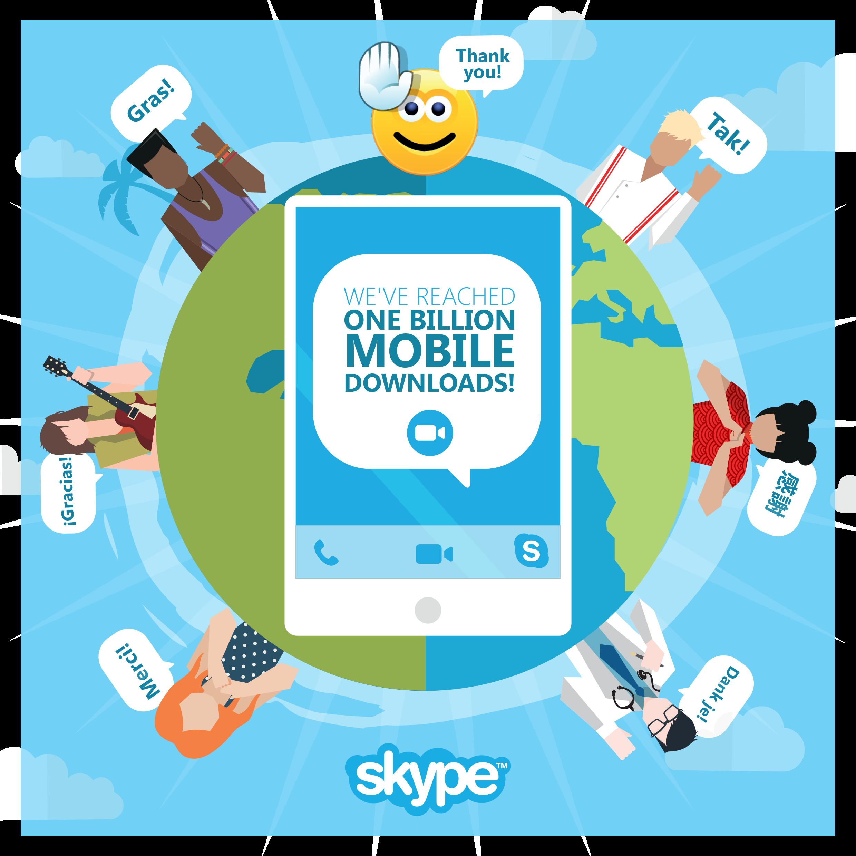 مليار تنزيل لتطبيق Skype علي الهواتف