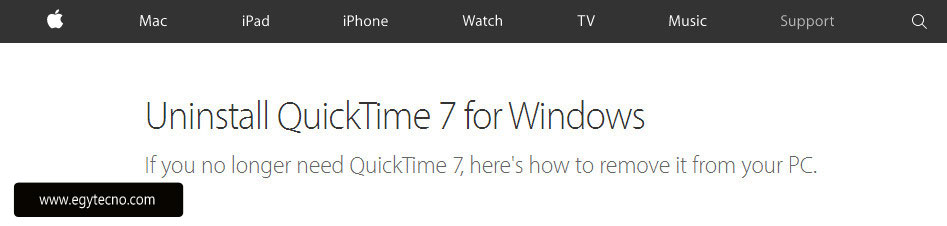uninstallquicktime7