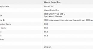 معلومات عن هاتف ريدمي الجديد Xiaomi Redmi Pro من شركة شاومي الصينية